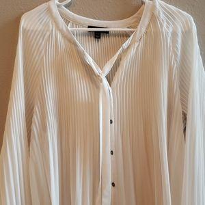 Cream long-sleeved blouse